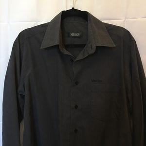 Versace Men's Black Cotton Blend Shirt Size M